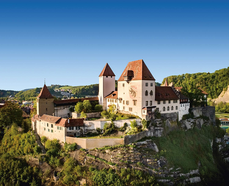 Le château de Burgdorf vu de l'extérieur