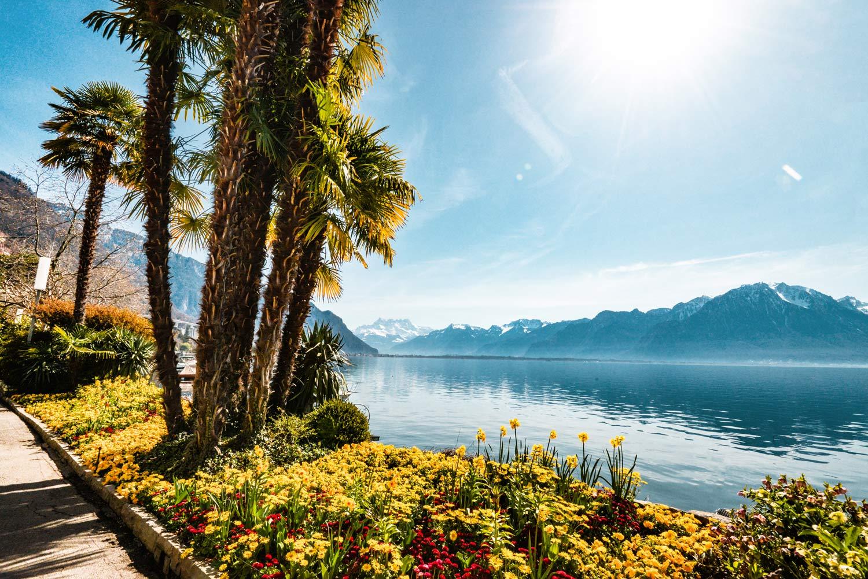 Französischer Riviera am Genfersee